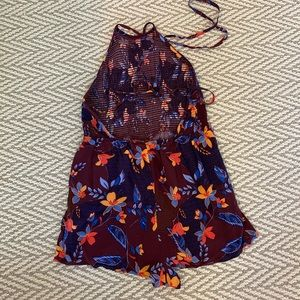 Urban Outfitters Other - Open-Back Floral Romper